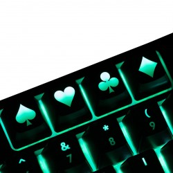 Poker ABS Backlit Keycap